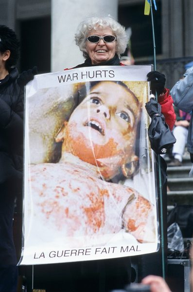 Lincoln Clarkes Photographs: War Protesters 2003 - Model 11