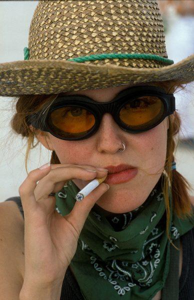 Lincoln Clarkes Photographs: Burning Man Women 1999 - Model 1