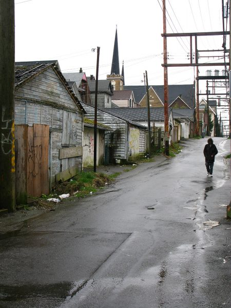 Lincoln Clarkes Photographs: Strathcona alley, Vancouver 2008