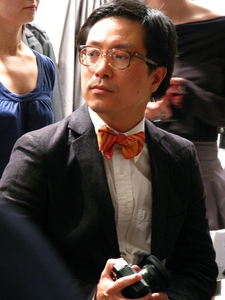Lincoln Clarkes Photographs: JJ Lee, fashion columnist, at Obakki show, Vancouver 2008