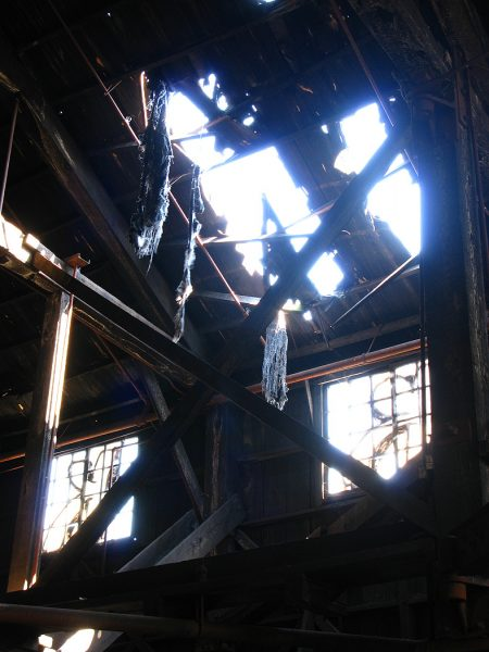 Lincoln Clarkes Photographs: Hole in abandoned factory, Vancouver 2008