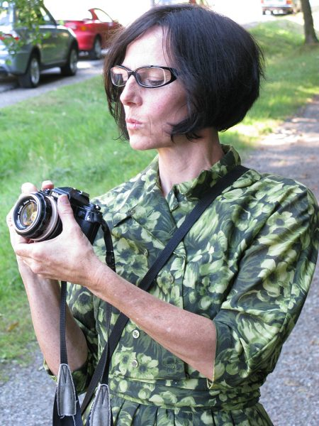 Lincoln Clarkes Photographs: Claire Yargeau shooting film, Vancouver 2008