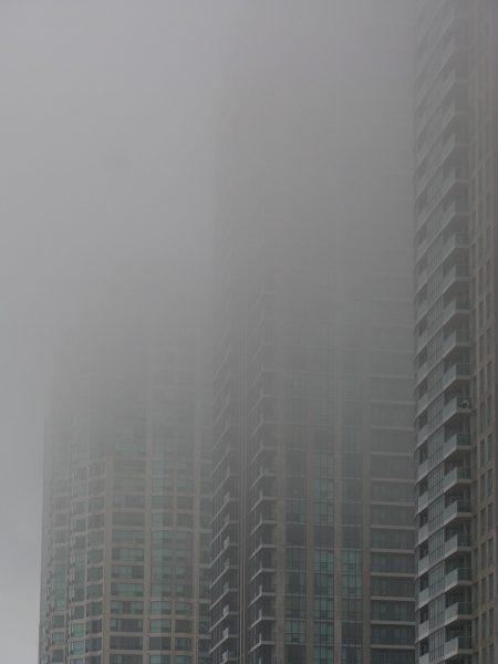 Lincoln Clarkes Photographs: Fog cityscape 2, Toronto, 2008