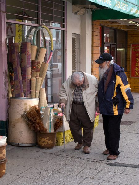 Lincoln Clarkes Photographs: Old man, Pender St. Chinatown Vancouver 2008
