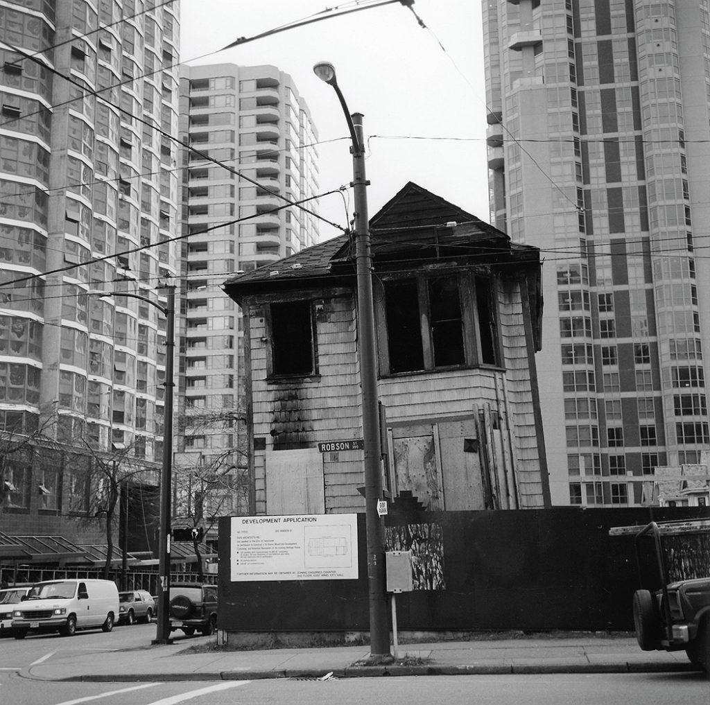 Lincoln Clarkes Photographs: House on Robson St. Vancouver 1995