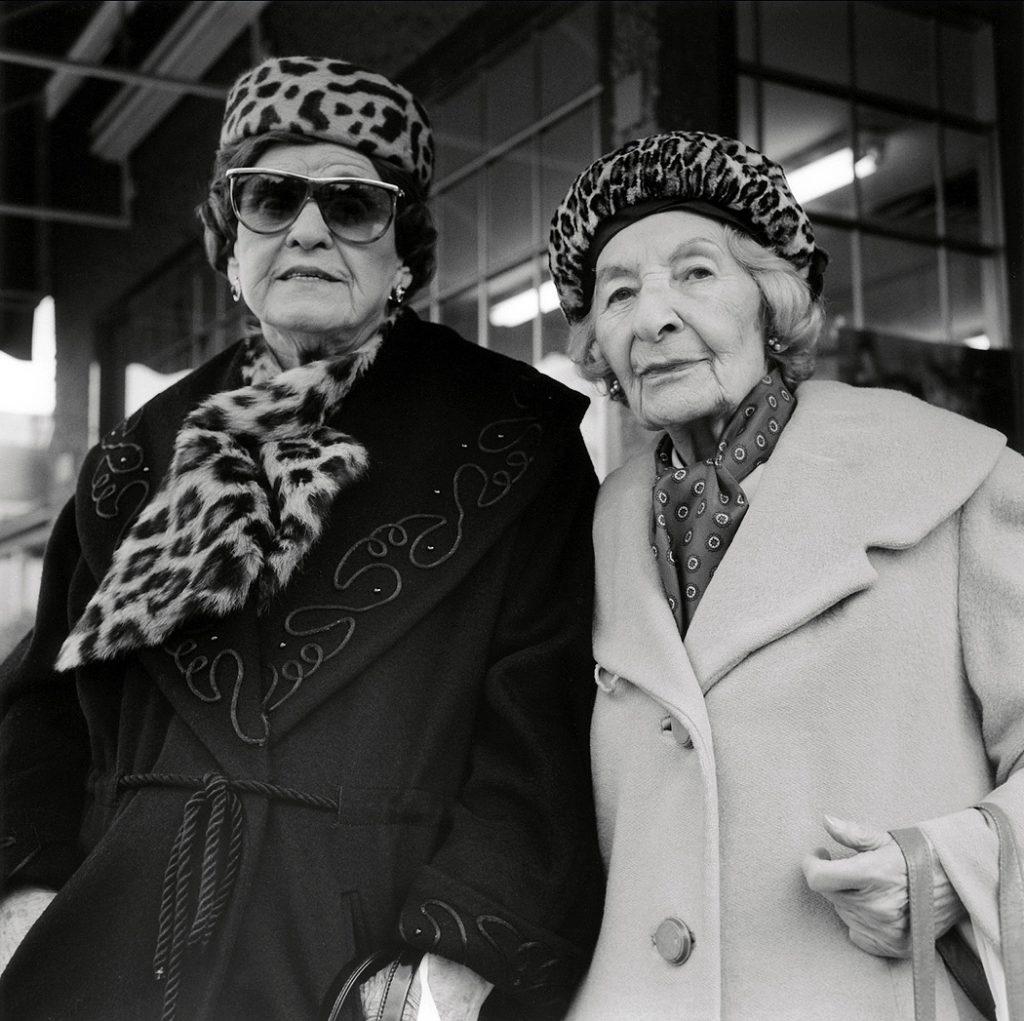 Lincoln Clarkes Photographs: Nina & Larissa, Union Market, Vancouver 1998