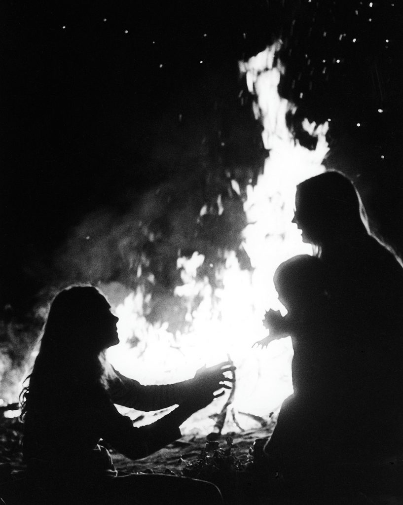 Lincoln Clarkes Photographs: Bonfire at Caravan Ranch, British Columbia 1995