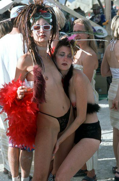 Lincoln Clarkes Photographs: Burning Man Women 1999 - Model 28