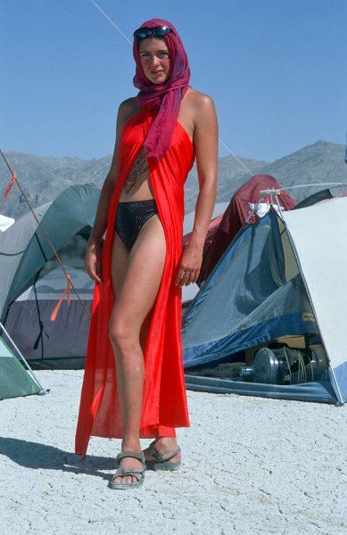 Lincoln Clarkes Photographs: Burning Man Women 1999 - Model 47