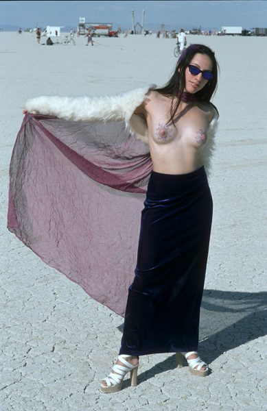 Lincoln Clarkes Photographs: Burning Man Women 1999 - Model 19
