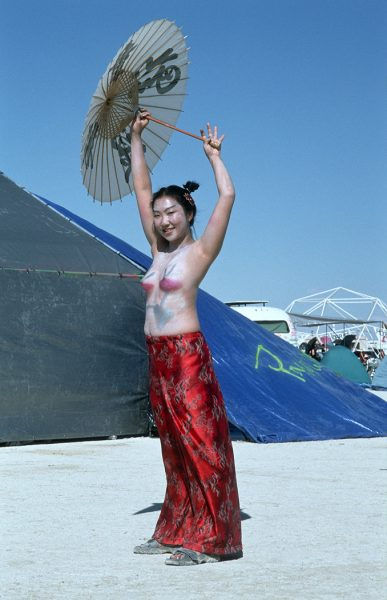 Lincoln Clarkes Photographs: Burning Man Women 1999 - Model 8