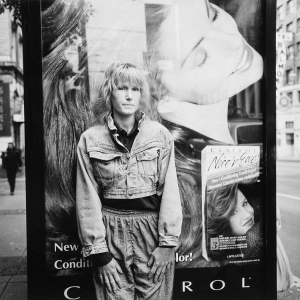 Lincoln Clarkes Photographs: Bus stop, Main & Hastings St. Vancouver, October 2, 1998