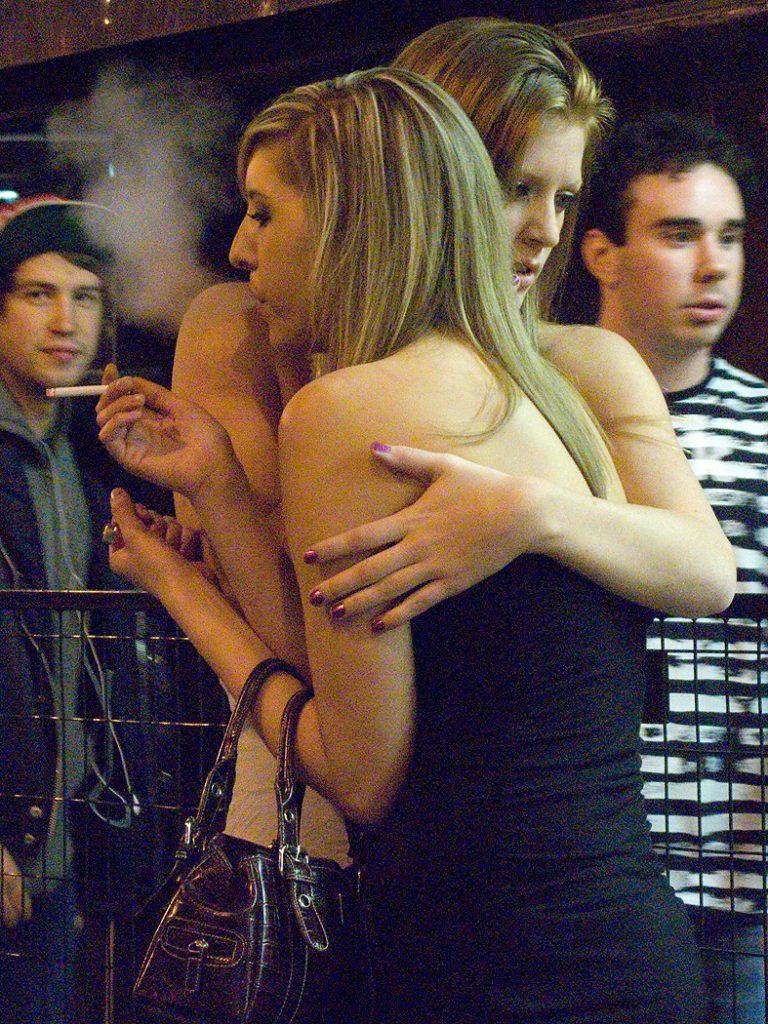 Lincoln Clarkes Photographs: Girlfriends, Granville St. Vancouver 2009