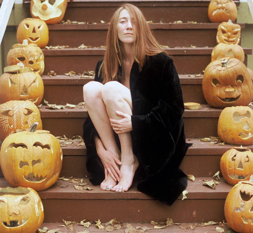 Lincoln Clarkes Photographs: Anthea with pumpkins, Vancouver, 1997