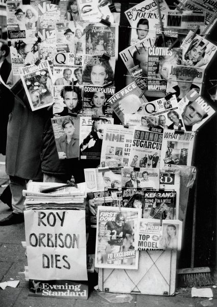 Lincoln Clarkes Photographs: Roy Orbison dies, Oxford Street, London 1988