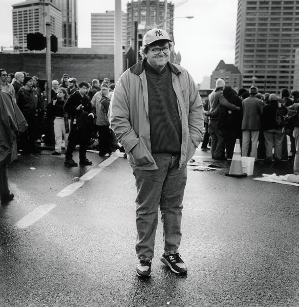 Lincoln Clarkes Photographs: Michael Moore, WTO Protest, Seattle 1999