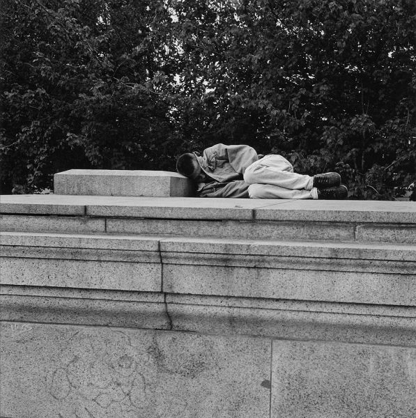 Lincoln Clarkes Photographs: Granite pillow, Vancouver Art Gallery, 1995