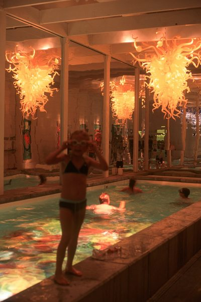 Lincoln Clarkes Photographs: Dale Chihuly's pool, Seattle 2004