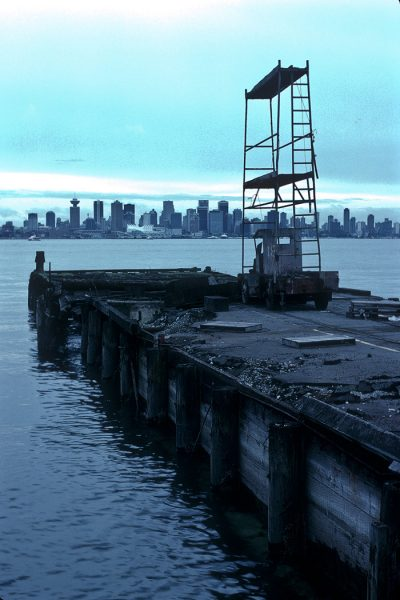 Lincoln Clarkes Photographs: Old pier at ship yards, North Vancouver 1994