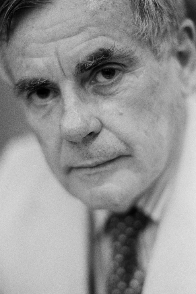 Lincoln Clarkes Photographs: The late, Dominick Dunne, Toronto 1990