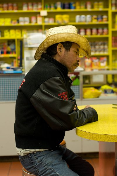 Lincoln Clarkes Photographs: Native cowboy, Vancouver 2010