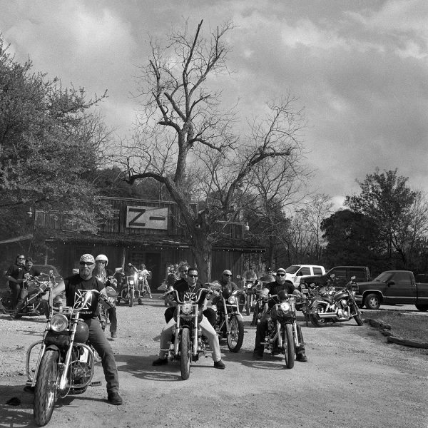 Lincoln Clarkes Photographs: Biker hangout near Houston, Texas 2004