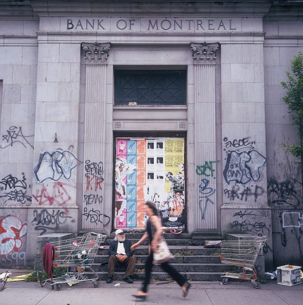 Lincoln Clarkes Photographs: Before it was, M Bank 906 Main St. Vancouver 2003
