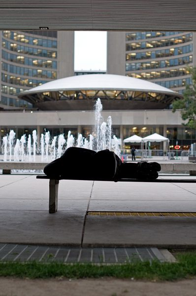Lincoln Clarkes Photographs: Homeless, City Hall, Toronto 2010