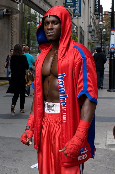 Lincoln Clarkes Photographs: Jamiel, The contender, Yonge St. Toronto 2010