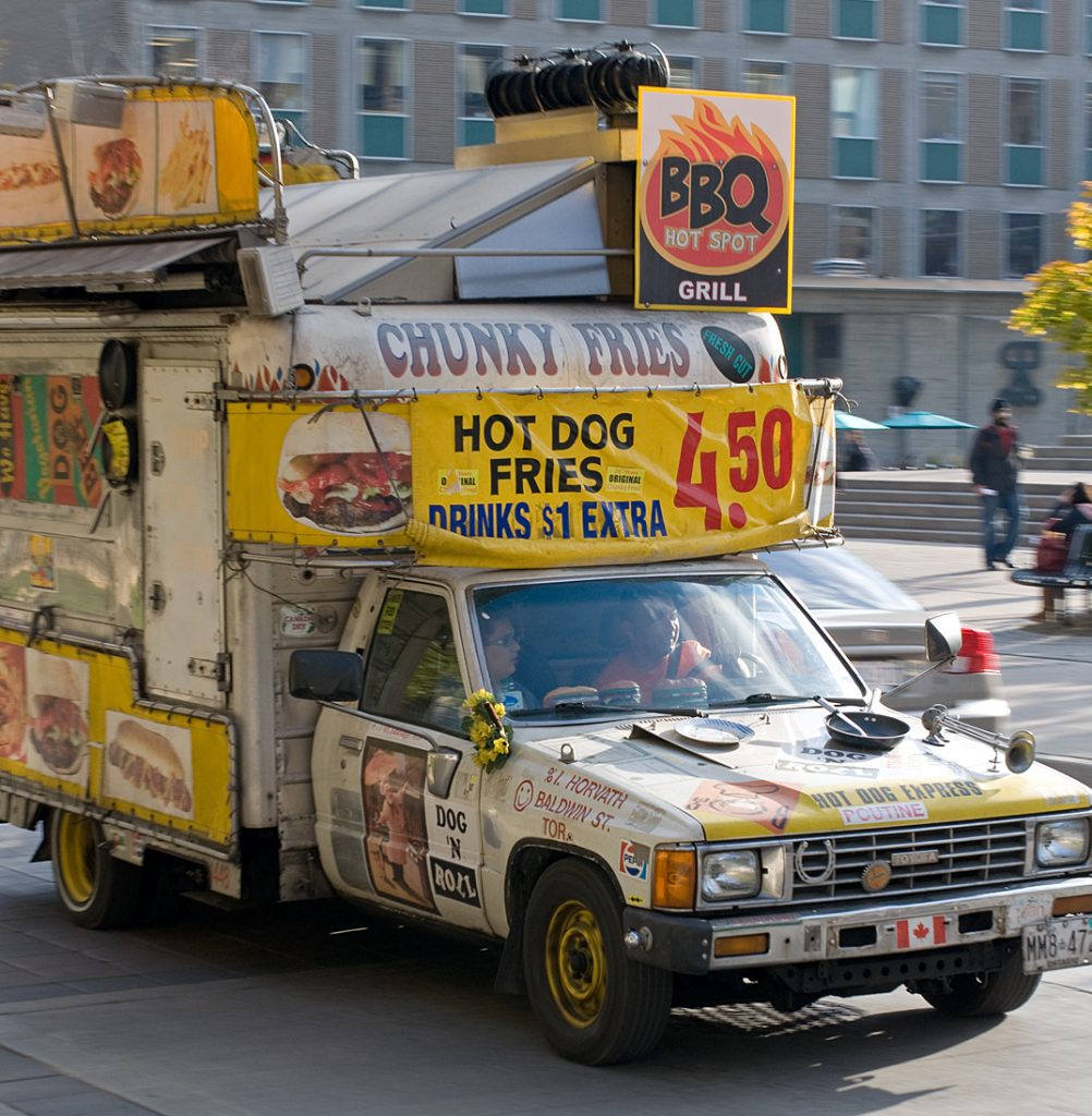 Lincoln Clarkes Photographs: Food truck, University of Toronto 2010
