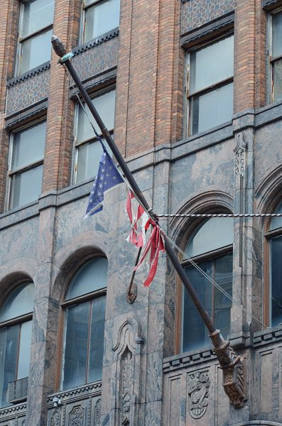 Lincoln Clarkes Photographs: Flag rag, Detroit 2011